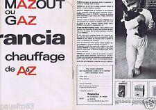 Publicité Advertising 096 1967 Francia chaudière gaz & mazout  (2 pages)