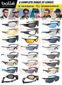 Bolle Safety Glasses Sporty Spectacles Tinted Smoke Grey Lens UV protection PPE