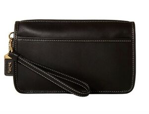 NWT Coach 1941 ORIGINALS Collection 90's Design Black BRITT CLUTCH WRISTLET $150