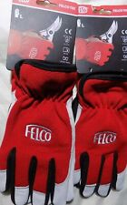 2 X Felco Work Gloves Model 702 - soft leather with elasticated cuff - Genuine