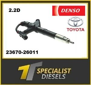 Toyota Injector 2.2D 23670-26011 DCRI200110 DENSO - SERVICE EXCHANGE 2AD-FHV