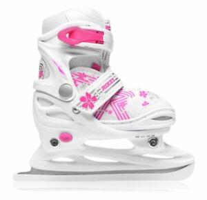 ROCES Jockey Ice Skates Junior Girls White Size UK 9-11JR US 10-12 JR *REFCRS215