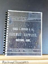 James L. Howard & Co Railway Supplies & Car Furnishing Catalog Reprint