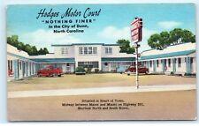 *1955 Hodges Motor Court Inn Motel Dunn North Carolina NC Vintage Postcard B35