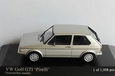 VW GOLF I GTI PIRELLI 1983 DIAMANT SILVER METAL MINICHAMPS 403055173 1/43 MKI