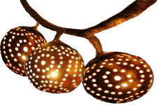 Coconut Shell Lamp Hanging Tiki Strand Asian Night Lights Wooden Shades Thailand