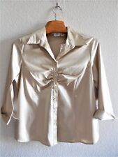 Womens Plus Size 14W/16W Clothes Gold Shimmery Button BlouseTop/Shirt NWT Cato