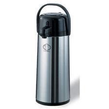 Service Ideas Ecas22S S/S Lined Airpot, Push Button, 2.4 Liter Cap., Regular