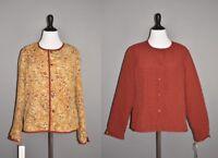 KORET NEW $70 Burgundy Floral Reversible Quilted Jacket Large