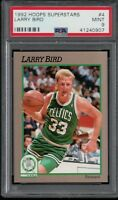 PSA 9 LARRY LEGEND BIRD 1991-1992 Hoops Sears 100 Superstars CELTICS MINT RARE