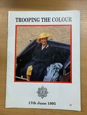 "1995 QUEEN ELIZABETH II ""TROOPING THE COLOUR"" OFFICIAL PROGRAMME BOOK"