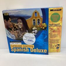 Microsoft Encarta Language Learning Spanish Deluxe Cd Set Software New in Box
