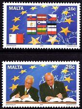MALTA adesione all'UE 2004 SERIE COMPLETA SG1371 - 72 unmounted Nuovo di zecca