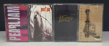 Lot 4 Prog Rock Cassette Tapes - Pearl Jam & Foo Fighters - Ten - Vitalogy