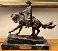 "Frederic Remington ""Cowboy"" Bronze Reproduction, New England Collectors Society"