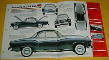 1958 Borgward Isabella TS 4 Cylinder 1493cc IMP Info/Specs/photo 15x9