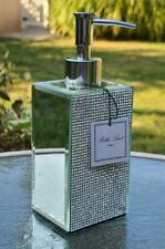 NEW Bella Lux MIRROR Rhinestone SOAP Pump Dispenser Crystal Diamond Bathroom