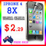 8x LCD HQ Ultra Clear Screen Film Display Protector Apple Guard iphone4G 4S 4