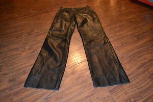 C6- Pelle Studio Wilsons Black Leather Pants Size Women's 8