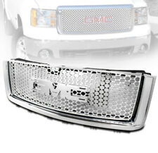 GMC 2007-2013 SIERRA 1500 DENALI PICKUP FRONT UPPER MAIN TOP MESH GRILLE CHROME