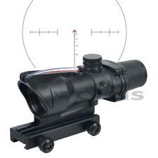 Tactical ACOG 4x32 Scope CHEVRON Reticle Scope Red Optic Fiber Illumination