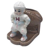Vintage Ceramic Football Player Planter K1332 Napco Japan sticker