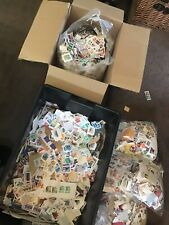 World / Foreign / GB stamps on paper/ off paper Kiloware. 200g free uk post