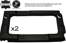 Noir piquer 2X vitre arrière panneau garniture en cuir couvre pour defender 110 sw 83-16
