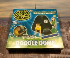 As Seen On TV Glow Crazy Doodle Dome Super Glow Design Studio Canvas Tent New