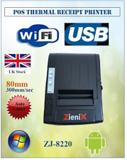 POS Térmica Impresora de recibos de punto con Autocut, Wi-Fi inalámbrica y USB 300mm/sec 80 mm