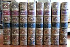 William Cowper Works 1853 decorative leather bindings 8 vol set w/ engravings