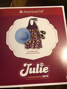 American Girl Julie's™ Birthday Outfit 1974 NIB NRFB NEW