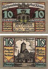 Germany 10 Pfennig 1921 Notgeld Bad Kosen UNC Uncirculated Banknote