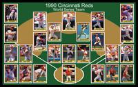 1990 CINCINNATI REDS World Series Team Photo Poster Art Gift Decor Barry Larkin