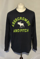 Abercrombie & Fitch Muscle Men's Jumper Blue Long Sleeve Large 100% Cotton