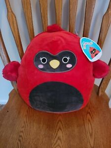 """New with Tags, Squishmallow 12"""" Cazlan Red Cardinal Soft Plush, Great Size.."""