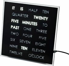 LED Word Clock Decorative Clock Shelf Desk