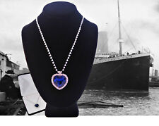 'Heart Of The Ocean'..White Gold..Blue Sapphire..Titanic Necklace - Gift Boxed