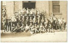 Factory Warehouse Railroad Occupational Workers RPPC Real Photo Postcard c.1909