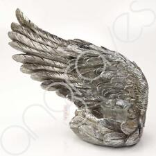 Large Left Decorative Antique Silver Angel Wing Tealight Candle Ornament Home De