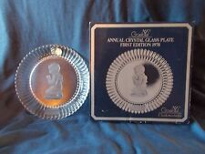 Goebel Annual Crystal Glass Plate 1st Edition 1978 In Box Girl Praying