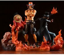 3PCS Set One Piece Luffy Ace Sabo Brotherhood Action Figure Model Toys Doll Gift