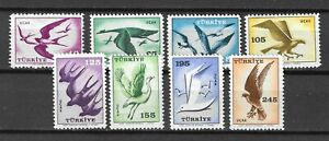 Turkey 1959 Wildlife Fauna Birds of Prey Vögel Oiseaux Air Mail compl. set MNH