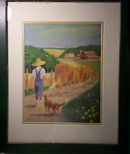 Bringing in the Cows By Felix Summers Print, Framed, Lithograph Reseller Realism