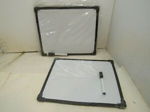 Erasable White Boards Set of Two with  Markers