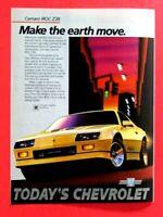 """1985 Chevrolet Camaro IROC Z28  Make The Earth Move Original Print Ad 8.5 x 11"""""""