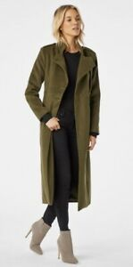JUSTFAB coat WOMENS SIZE 1X heavy polyester winter green NEW WITH TAGS jacket