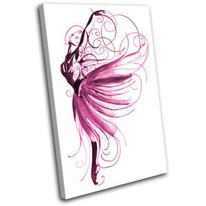 Ballet Dancer Performing SINGLE CANVAS WALL ART Picture Print VA