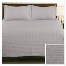 Rapport Harrogate Quilted Bedspread 220 x 250cm Plus Optional Pillowshams Silver