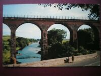 POSTCARD WIGTOWNSHIRE GLENLUCE - THE RIVER LUCE & VIADUCT